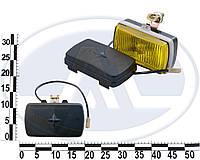 Фара противотуманная ГАЗ 3102 желтая, б/л (универсальная прямоуг. с защитной крышкой) (11.3743010-01(Б/Н3))