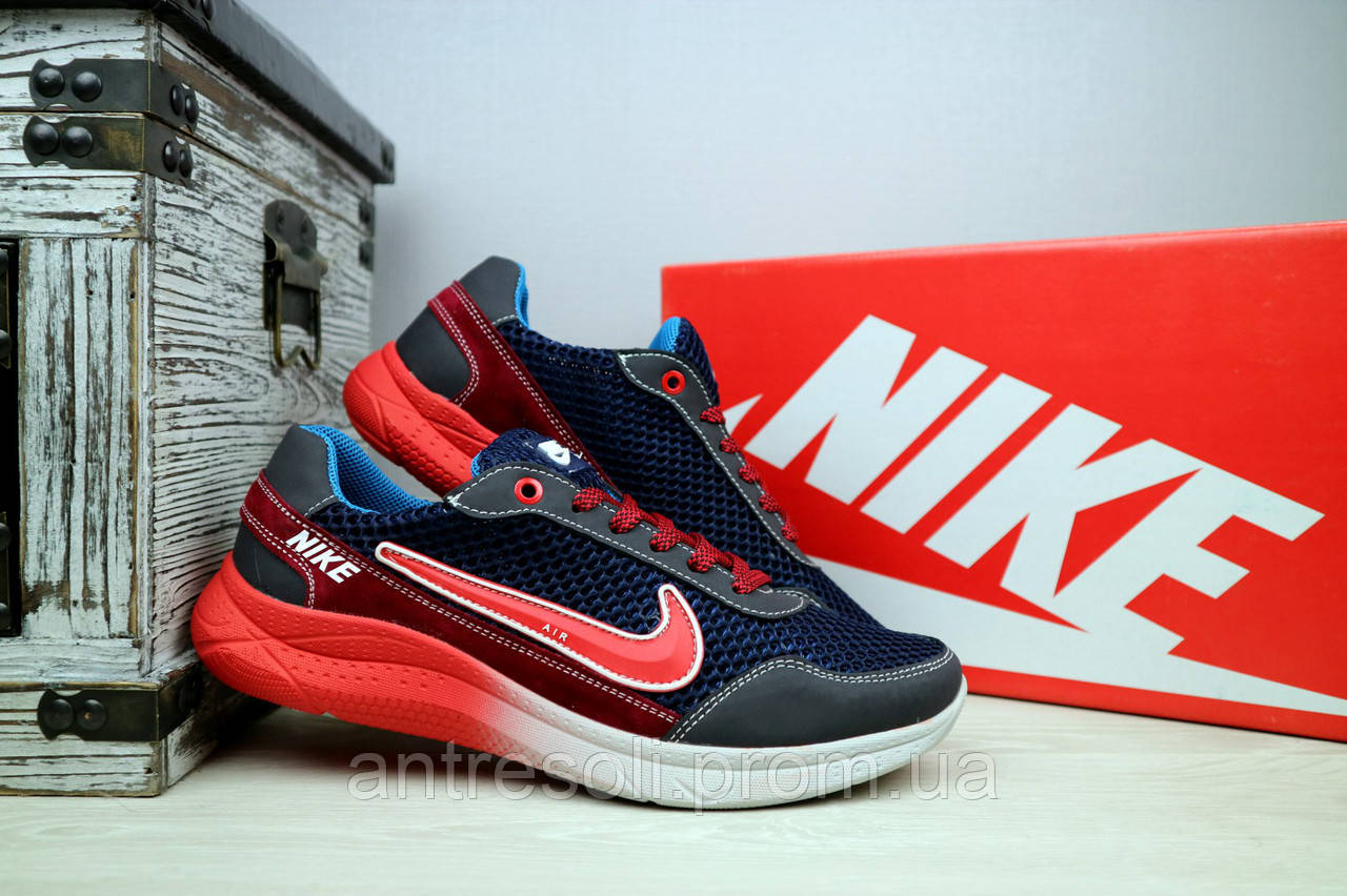 39085862 Мужские кроссовки сетка Nike Сине Красные 10853: 690 грн ...