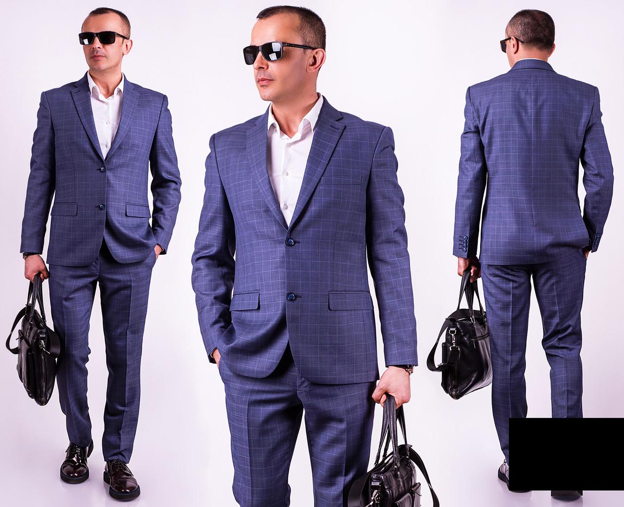 8e48db96e73 Классический мужской костюм (46-56 р) СИНИЙ  продажа