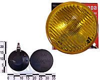 Фара противотуманная ВАЗ 2101 желтая (универсальная круглая с защитной крышкой) (2101.3743-06)
