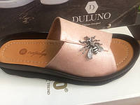 Женские кожаные шлепанцы Magnolya Турция, фото 1