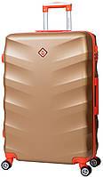 Дорожный чемодан на колесах Bonro Next Золотой Небольшой