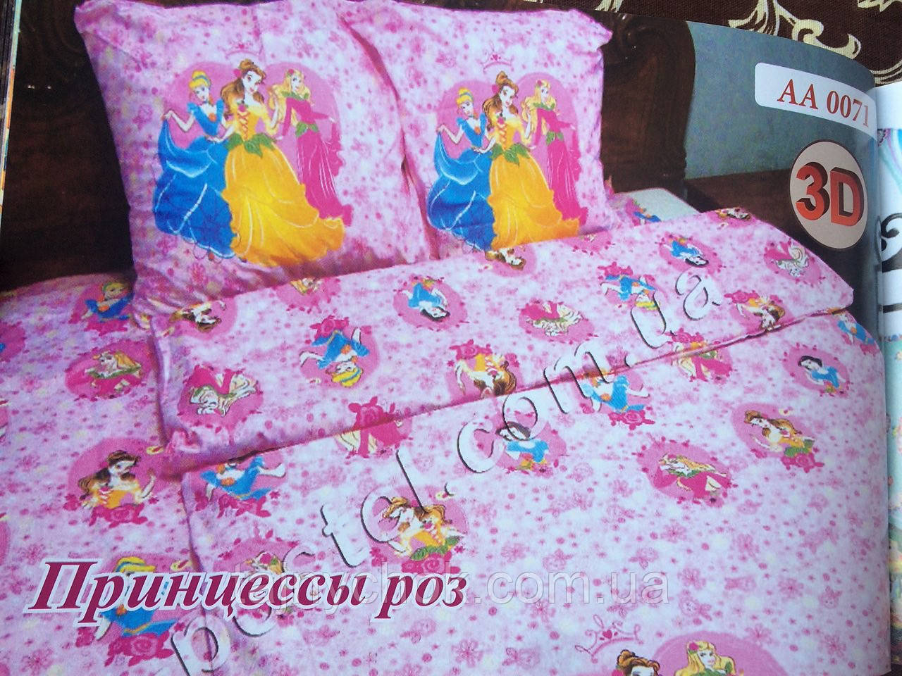 """Детское постельное белье """"Принцессы роз"""""""