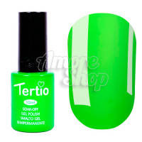 Гель-лак Tertio №022 (яркий зеленый, неоновый), 10 мл