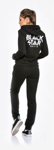 Спортивный чёрный костюм Black Star Mafia с капюшоном