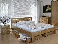 Кровать MeblikOff Осака с ящиками (140х190) дуб