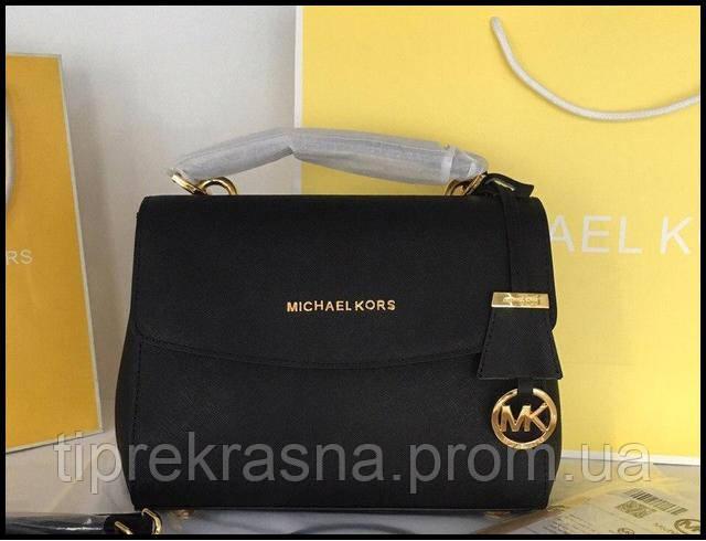 4623b32dbe20 Женская сумка Майкл Корс Ava чёрная кожаная, Люкс копия - Магазин