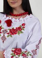 Вышитая женская сорочка крестиком , фото 1