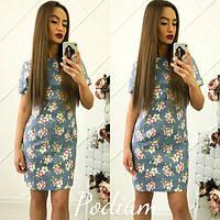 Красивое летнее платье с цветочным принтом тв-180422-5