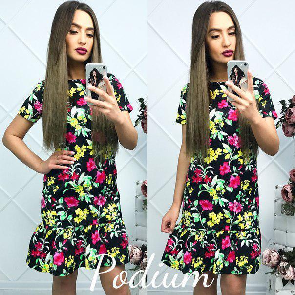 ab240b1f14a Прямое летнее платье с рюшами тв-180423-1 — купить недорого в ...