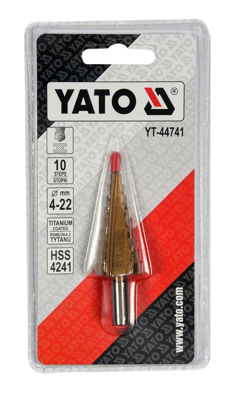 Сверло ступенчатое Yato 4-22, YT-44741