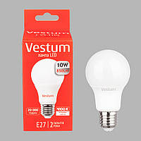 Лампа LED A60 10W 4100K 220V E27 Vestum
