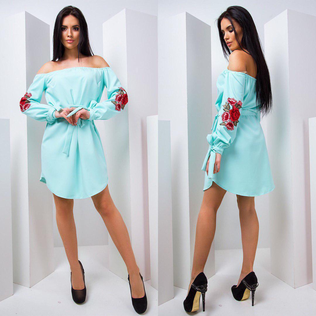 3bca6e21bee Летнее платье с открытыми плечами тв-180431-3 — купить недорого в ...