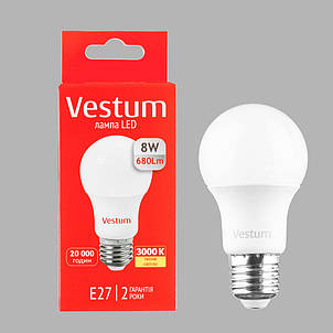 Лампа LED G45 6W 4100K 220V E27 Vestum, фото 2