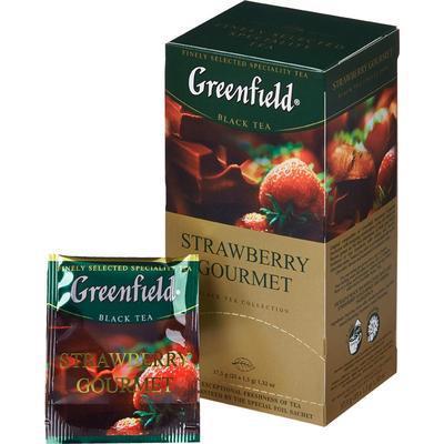 """Чай со вкусом клубники 25 пакетов """"Greenfield"""""""