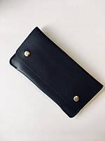 Женский кошелек двойного сложения из экокожи черный опт, фото 1