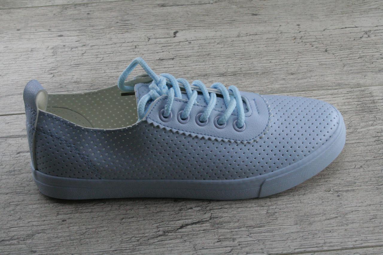 Кеды, мокасины женские c перфорацией Moli, весенняя, летняя, повседневная обувь
