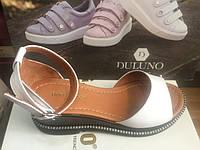 Женские кожаные босоножки с закрытой пяткой Donna Ricco, фото 1