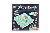 Новинка! Яркий музыкальный игровой набор Diy Light Puzzle, 196 деталей
