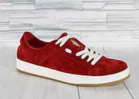 Яркие красные кеды. Натуральный замш 1764, фото 1