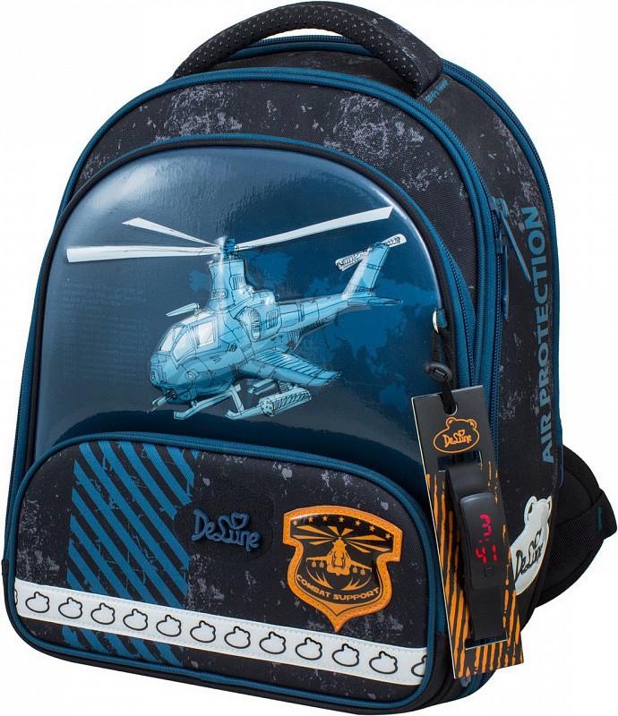 3f345a0f8d5a Рюкзак Delune 9-118 школьный ортопедический для мальчика часы, рюкзак для  сменки, пенал 28 см х 16 см х36 см