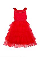 Красный нарядный сарафан для девочек, фото 1