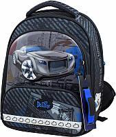 Рюкзак Delune 9-119 школьный ортопедический для мальчика часы, рюкзак для сменки, пенал 28 см х 16 см х36 см