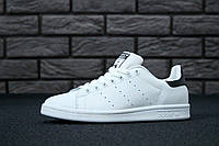 Кроссовки Adidas Stan Smith White/Black (унисекс), адидас стен смитт, реплика