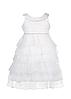 Белый нарядный шифоновый сарафан для девочек