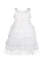 Белый нарядный шифоновый сарафан для девочек, фото 1
