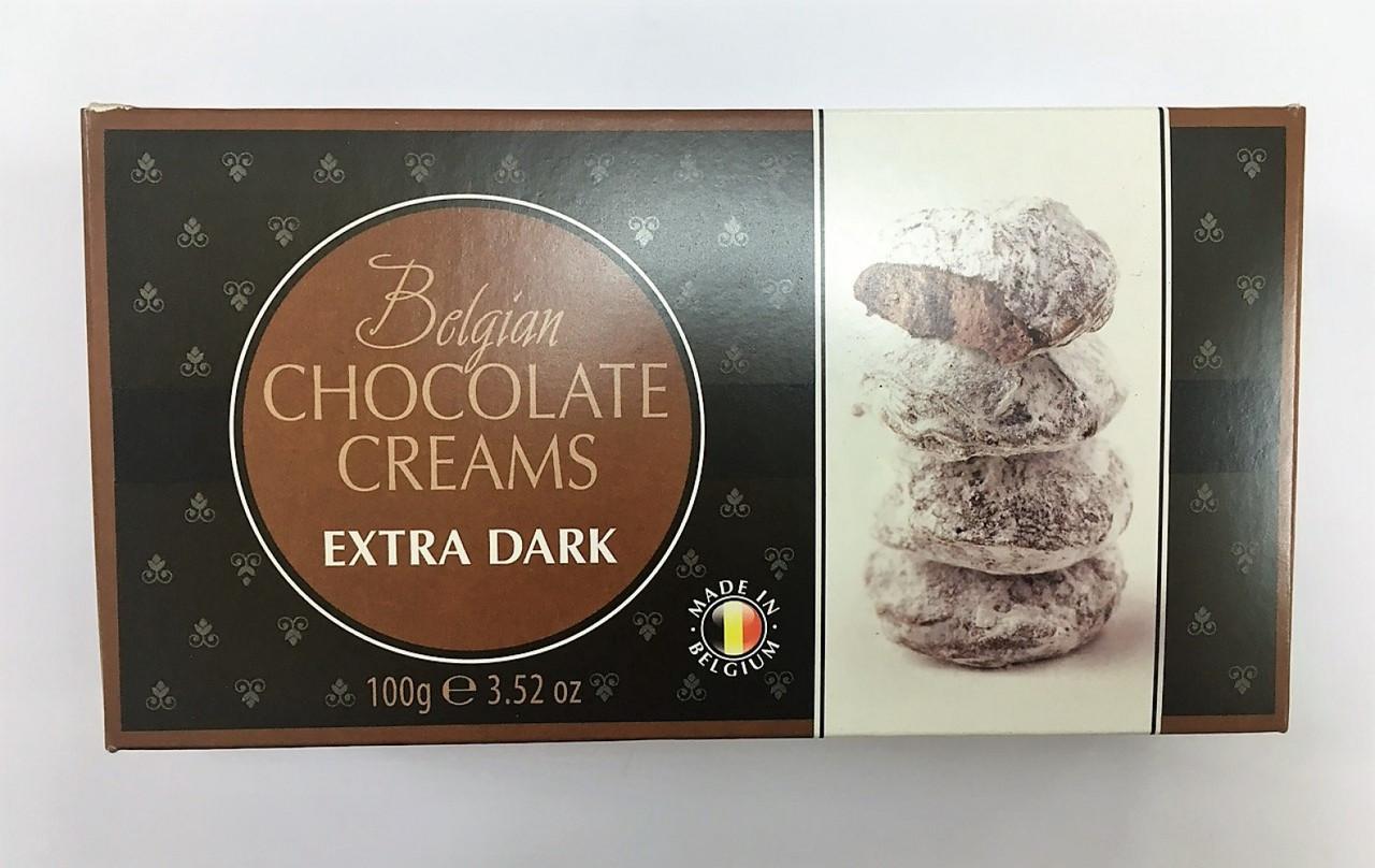 Цукерки Bеlgian 100г Кремові в екстра чорному шоколаді