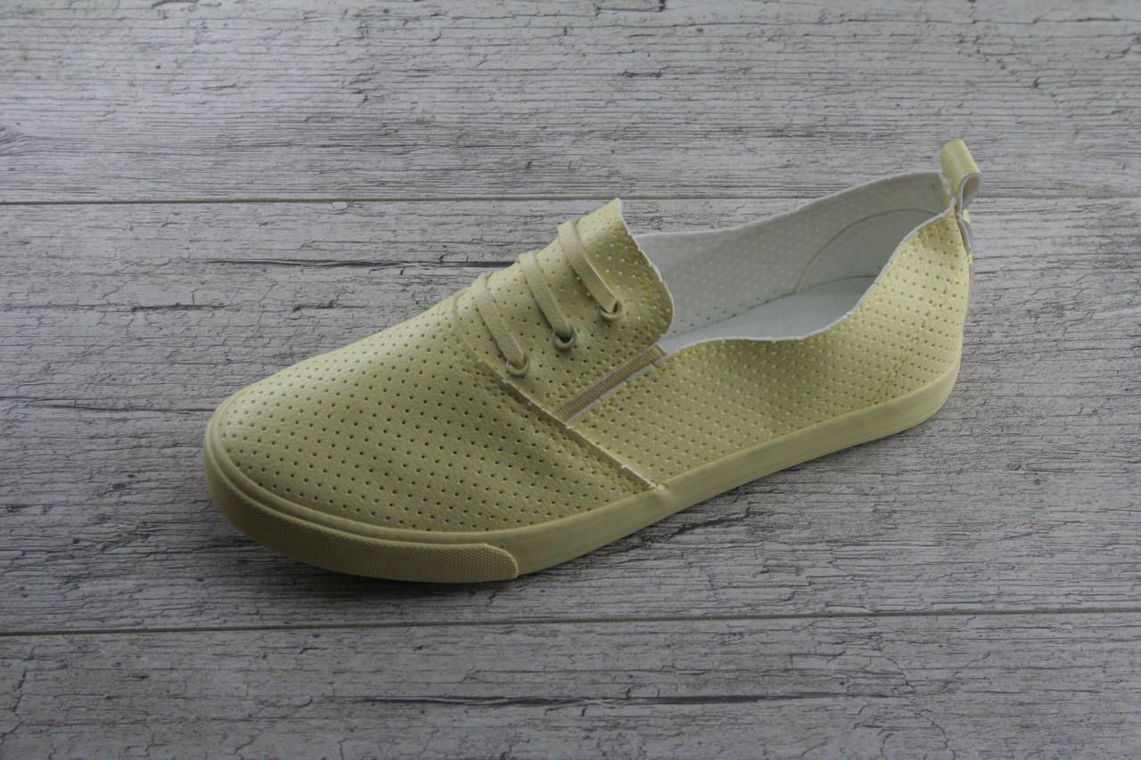 Кеды, мокасины женские c перфорацией на шнурках Moli, весенняя, летняя, повседневная обувь