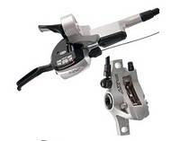 Перемикачі (манетки) SHIMANO Deore XT Dual control 3x9 гідравліка ST-M766 сірі пара