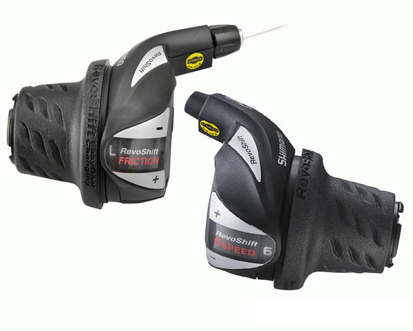 Перемикачі шифтери SHIMANO REVOSHIFT 3x7 SL-RS36-7 чорні