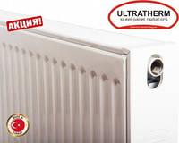 Стальные радиаторы Ultratherm 22 тип 500/1200 нижнее/боковое подключение, Турция, фото 1