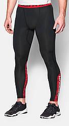 Леггинсы Under Armour Heatgear Compression Legging (CoolSwitch) 1271331-001 Черные с красным L (1271331-001)