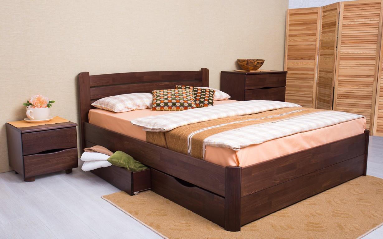 Кровать деревянная с ящиками София V фабрика Олимп