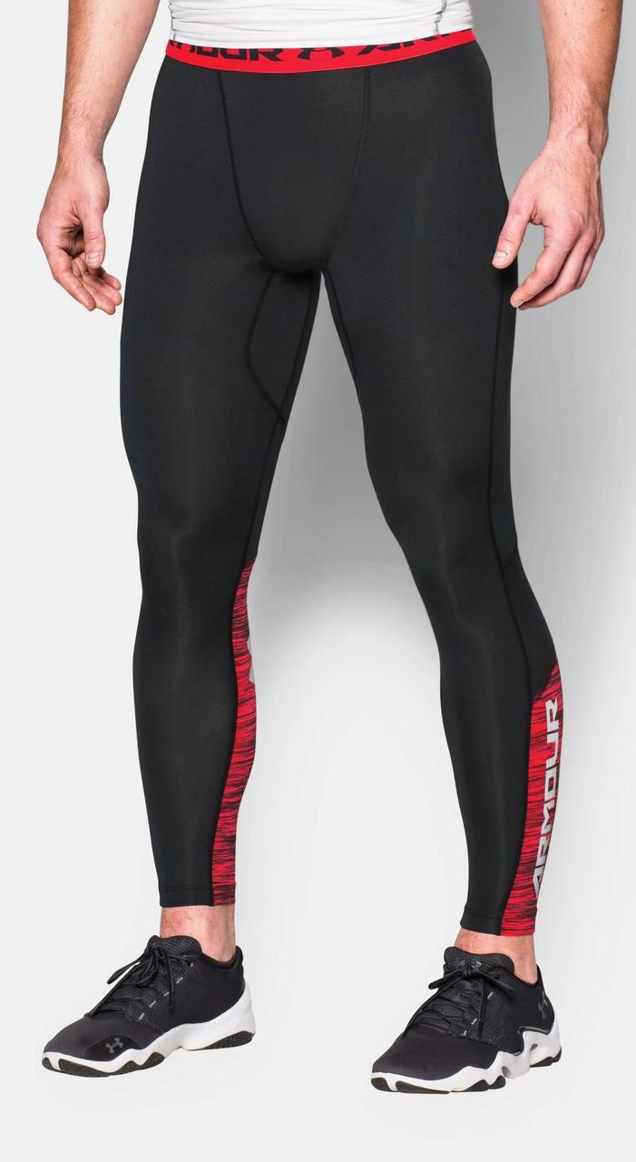 Леггинсы Under Armour Heatgear Compression Legging (CoolSwitch) 1271331-001 Черные с красным XL (1271331-001)