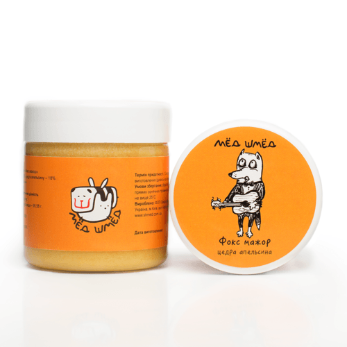 Мёд-шмёд Фокс мажор с цедрой апельсина 250 г