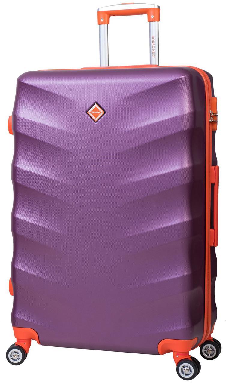 Дорожный чемодан на колесах Bonro Next Темно-фиолетовый Небольшой