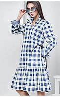 Платье  Берта крупная клетка, платье в офис, оригинальное платье, дропшиппинг, фото 1