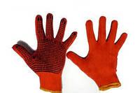 Рукавички робочі хб з покриттям ПВХ перший сорт, фото 1