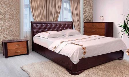 Кровать Милена с подъемным механизмом, мягкая спинка ромбы, фото 2