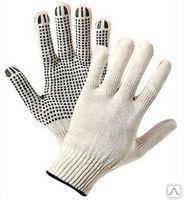 Перчатки рабочие ХБ с покрытием ПВХ размер 22.