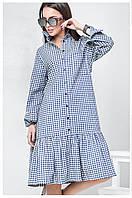 Платье  Берта мелкая клетка, платье в офис, оригинальное платье, дропшиппинг, фото 1