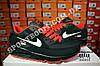Кроссовки Nike Air Max 90 Black Red Черные мужские, фото 7