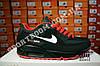 Кроссовки Nike Air Max 90 Black Red Черные мужские, фото 6