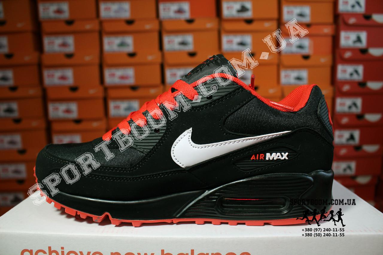 9225bbb9 Кроссовки Nike Air Max 90 Black Red Черные мужские: 1 199 грн ...