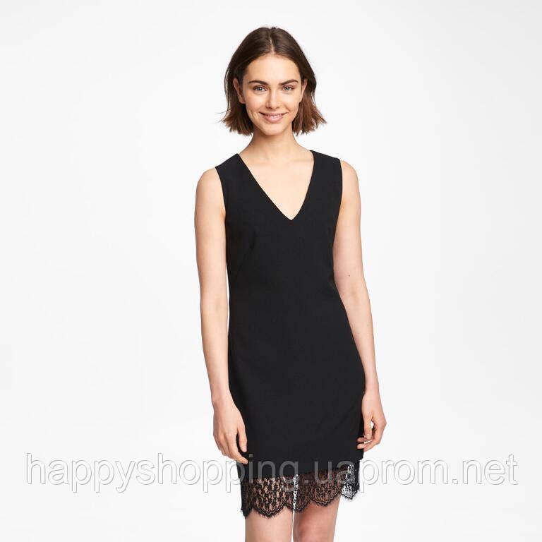 Женское черное платье средней длины известного бренда Karl Lagerfeld