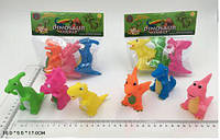 Набір пищалок AK68248-1 Динозаврики асорті, в пакеті